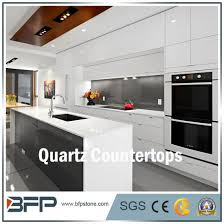 white quartz nautral stone for kitchen countertop in house project pictures photos