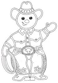 Small Picture cowboy gingerbread man coloring page christmas Pinterest