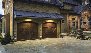 dark brown garage doorsCustom Wood Garage Doors  Clopay