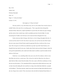 A Rose For Emily Literary Analysis Literary Analysis Of In The Time