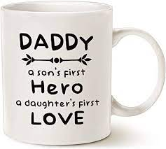 There are 110736 dad coffee mug for sale on etsy, and they cost 16,73 $ on average. Amazon Com Mauag Fathers Day Gifts Unique Dad Coffee Mug Daddy A Son S First Hero A Daughter S First Love Best Father S Day Gifts Cup White 11 Oz Kitchen Dining