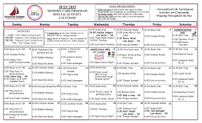Schooner Activity Calendars For July 2015