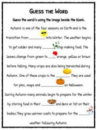 autumn facts information worksheets pdf lesson study material guess the word my autumn story
