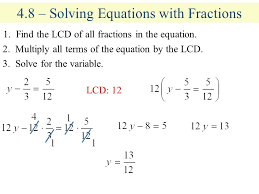 4 8 solving equations with fractions