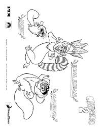 Madagascar 2 Mort And Maurice The Lemur Coloring Page Coloring