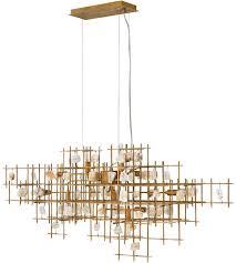fredrick ramond fr47886lgd petra 10 light 40 inch er gold linear chandelier ceiling light photo