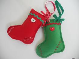 Felt Christmas Stockings, Hanging Decorations on Etsy,