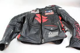 icon motorsport suzuki leather motorcycle jacket size large