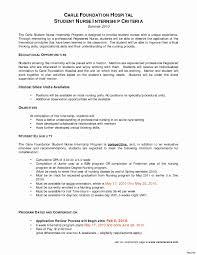 Nursing Student Skills For Resume Best Of Nursing Student Resume