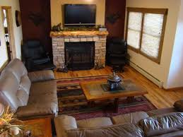 corner fireplace mantel with tv above