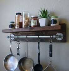 wall pot rack need to make me an adaptation of this for my measuring cups industrial wall pot rack