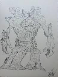 treant protector pencil drawing dota2