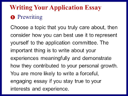presenting yourself positively from reading to writing le morte  writing your application essay 1 prewriting one writes out of one thing only one s own