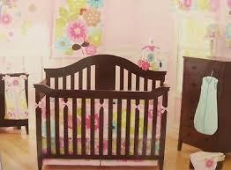 <b>4 pc Summer</b> Petals Baby Nursery Crib Bedding <b>Set</b> Collection NIP ...