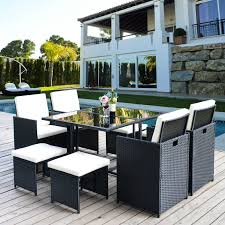 Merax Poly Rattan Lounge Gartenmöbel Set Sitzgruppe Klappbare