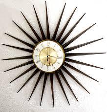 full image for gorgeous vintage sunburst wall clock 143 retro starburst wall clock vintage elgin starburst