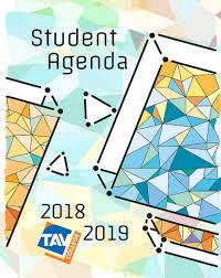 Tav College Agenda Cover Design Tav College