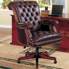 Office Chair Leather Brown Leather Office Chair Stylish And Peaceful Leather Office