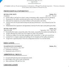 Sample Fire Resume Download Firefighter Examples Templates Emergency