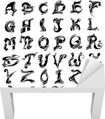 Tetování Abeceda A číslo