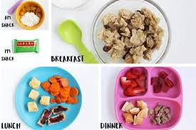 Toddler Meal Plan Chart Sample Daily Toddler Meal Plan And Feeding Schedules