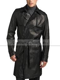 men s knee length leather duster coat 320 00 270 00