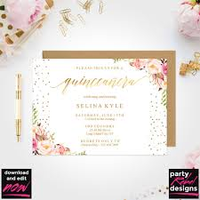 Free Invitations Maker Online Quinceanera Invitation Templates Free Printable Invitations