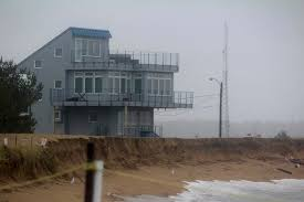 High Tides Wash Sand From New Reservation Terrace Berm On