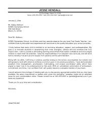 Teaching Cover Letter Template Cover Letter For Special Education