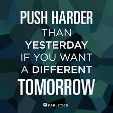 yesterday and tomorrow motivational fitness quote