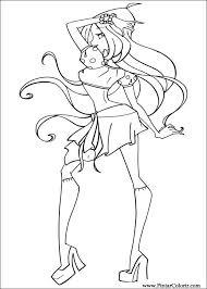 Tekeningen Te Schilderen Kleur Winx Club Print Design 023