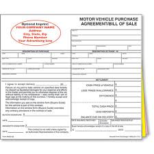 Vehicle Sale As Is Form Custom Imprinted Bill Of Sale Style 1