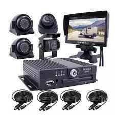 4CH 1080P mobil araç araba dvr'ı MDVR Video kaydedici sistemi ile 4 SONY  IP69 arka yan ön kamera için van otobüs RV 7