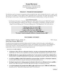 Project Manager Resume Objective Examples Amazing Transition Project