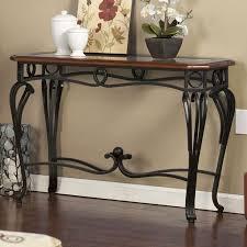home decor living room wood metal glass console sofa table