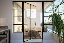 steel and glass balcony door