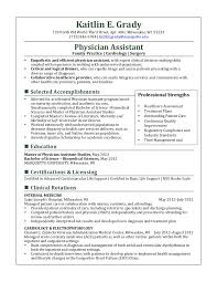 Physician Assistant Sample Resume Examples Of Resumes Radiology Physician Assistant Resume