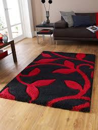fashion 7647 black red rug