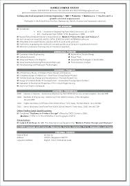 Sample Resume For Ece Engineering Students Best of Resume Format In Engineering Student Resume Format Resume For