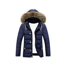 Mens Coats Warm Duck Down Jacket Fur Collar Thick Winter
