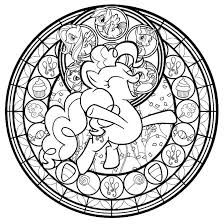 The Line Art For Pinkie Pie