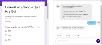 Quiz Design Convert A Google Quiz To A Chatbot Without Re Designing