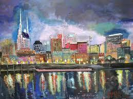 city painting nashville reflections by maylill tomlin