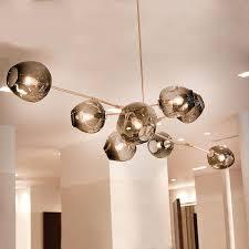 modern pendant lights bubble molecular glass ball lamp light inside ideas 0