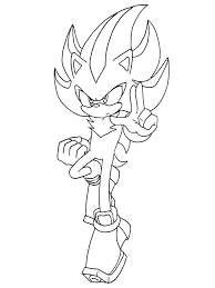 Shadow The Hedgehog Coloring Page Shadow Coloring Page Coloring
