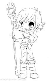 Coloring Pages Anime Chibi To Print Coloring For Kids 2019