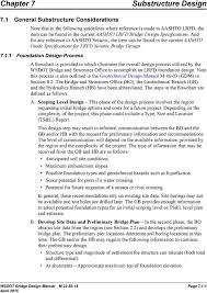 Bridge Substructure And Foundation Design Chapter 7 Substructure Design General Substructure