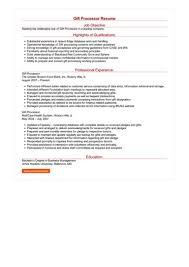 Gift Processor Resume Great Sample Resume