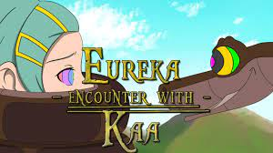 Set on a lithographic background; Eureka Encounter With Kaa Full Animation