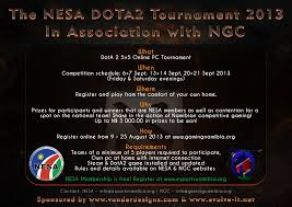 the nesa dota2 tournament 2013 in association with ngc namibian